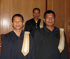 Thai lawyer in academic attorney gown