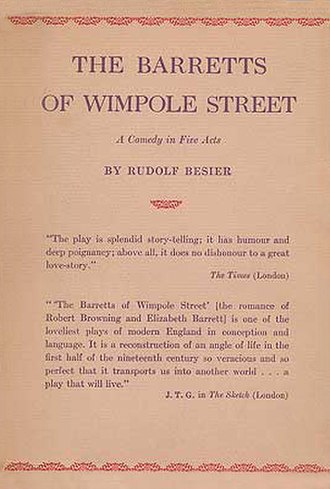 The Barretts of Wimpole Street - First US edition 1930