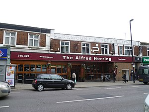 Alfred Cecil Herring - The Alfred Herring pub, Palmers Green.