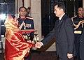 The Ambassador of Turkmenistan to India, Mr. Parahat Hommadovich Durdyev presented his Credentials to the President, Smt. Pratibha Devisingh Patil, at Rashtrapati Bhavan in New Delhi on December 18, 2007.jpg