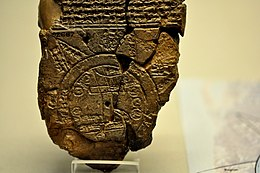 The Babylonian map of the world, from Sippar, Mesopotamia..JPG