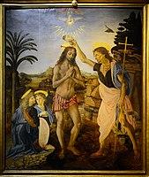 The Baptism of Christ (Verrocchio & Leonardo) Full Version.jpg