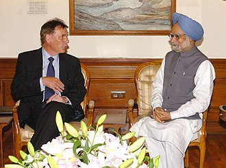 Olli-Pekka Kallasvuo - Kallasvuo meeting with Indian Prime Minister Manmohan Singh on 26 June 2008