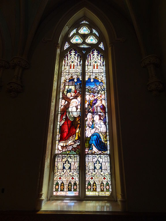 File The Carrying Of The Cross Stained Glass Window In