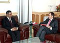 The Chief Minister of Jammu & Kashmir, Shri Omar Abdullah meeting the Union Minister for Health and Family Welfare, Dr. Anbumani Ramadoss, in New Delhi on January 29, 2009 (1).jpg