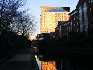 The Cube (building) - The Cube from the canal