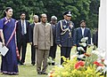 The Defence Minister, Shri A. K. Antony paying homage to the Indian Soldiers who died during the second World War at the Berlin War Cemetery, in Germany on May 26, 2008.jpg