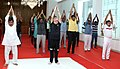 The Governor of Kerala, Justice (Retd.) P. Sathasivam performing Yoga along with other participants, on the occasion of the 2nd International Day of Yoga – 2016, at Raj Bhavan, in Thiruvananthapuram, Kerala on June 21, 2016.jpg