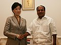 The Japanese Defence Minister Ms. Yuriko Koike meeting with Defence Minister, Shri A. K. Antony, in New Delhi on August 24, 2007.jpg