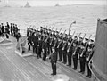 The King Pays 4-day Visit To the Home Fleet. 19 March 1943, Scapa Flow, Wearing the Uniform of An Admiral of the Fleet, the King Paid a 4-day Visit To the Home Fleet. A15265.jpg