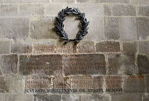 Raymond Asquith - Memorial in St Andrew's Church in Mells
