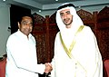 The Minister of Foreign Affairs, United Arab Emirates (UAE), Sheikh Abdullah bin Zayed Al-Nahyan meeting with the Union Minister for Commerce & Industry, Shri Kamal Nath, in New Delhi on June 06, 2007.jpg