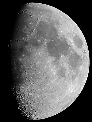 Moon view from earth In Belgium (Hamois).