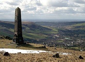 Saddleworth - Image: The Obelisk on Alderman's Hill