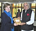 The Premier, British Columbia Government, Ms. Christy Clark meeting the Union Minister for New and Renewable Energy, Dr. Farooq Abdullah, in New Delhi on November 17, 2011 (1).jpg