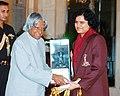 The President Dr. A.P.J. Abdul Kalam presenting the Arjuna Award to Koneru Humpy (Chess) in New Delhi on September 21, 2004.jpg
