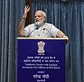 The Prime Minister, Shri Narendra Modi addressing the Valedictory Session of Assistant Secretaries (IAS Officers of 2015 batch), at DRDO Bhawan, in New Delhi on September 26, 2017.jpg