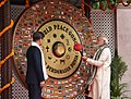 The Prime Minister, Shri Narendra Modi along with the President of the Republic of South Korea, Mr. Moon Jae-in visit the World Peace Gong, at the Gandhi Smriti, in New Delhi on July 09, 2018 (2).JPG