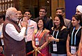 The Prime Minister, Shri Narendra Modi being welcomed by the Indian community, on his arrival, to attend the 9th BRICS Summit, in Xiamen, China on September 03, 2017.jpg
