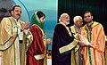 The Prime Minister, Shri Narendra Modi distributes the awards to students, at the 5th Convocation of Shri Mata Vaishno Devi University, at Katra, in Jammu and Kashmir (5).jpg