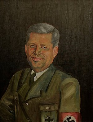 English: Portrait of Stephen Harper as Nazi