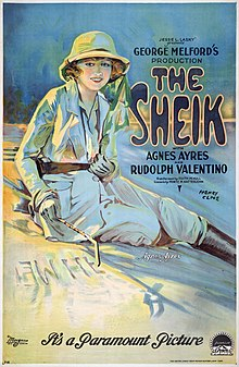 The Sheik with Agnes Ayres and Rudolph Valentino, movie poster, 1921.jpg
