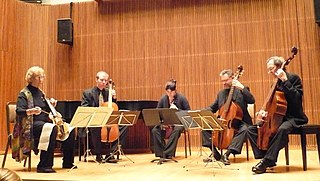 Consort of instruments musical ensemble
