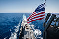 The U.S. Flag flies from the mast aboard the guided missile destroyer USS Stockdale (DDG 106) May 23, 2013, while operating in the U.S. 5th Fleet area of responsibility 130523-N-HN991-125.jpg