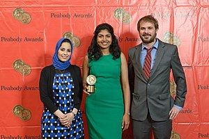 "Al Jazeera America - The crew of ""Made in Bangladesh"" at the 73rd Annual Peabody Awards"