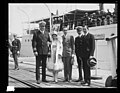 The famous screen star Harold Lloyd, visited Washington, D.C. Unannounced, May 16th and with his wife and Will Hays, czar of the movies made a visit to the Navy Yard. The picture was made in LCCN2016894235.jpg