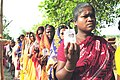 The female voters in a queue at a polling station, in Sialai village, Nanur, Birbhum district, during the Assembly Election in West Bengal on April 23, 2011.jpg