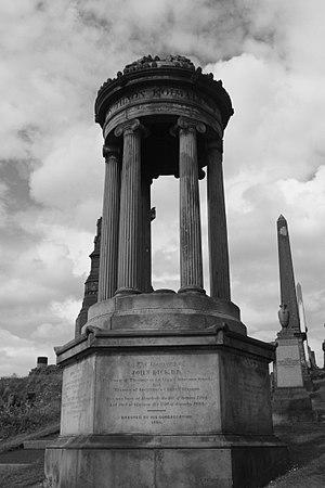 John Dick (minister) - The grave of Rev John Dick, Glasgow Necropolis