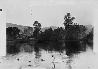 The lake and swans Clun