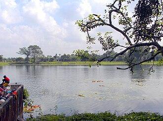Raikat - The large pond, near the Palace.