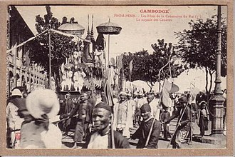 Norodom of Cambodia - Funeral procession of King Norodom in 1906