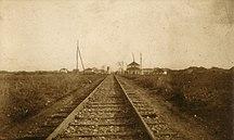 DistrictofFerizaj-Middle Ages-The railway line at Ferizaj 1903