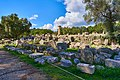 The ruins of the Temple of Zeus in Ancient Olympia on October 14, 2020.jpg
