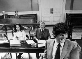 Zalman King - King (right) with Judy Pace and Lee J. Cobb in The Young Lawyers (1970)