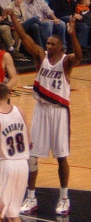 Theo Ratliff - Ratliff, as a Portland Trail Blazers player, attempts a free throw in January 2006.