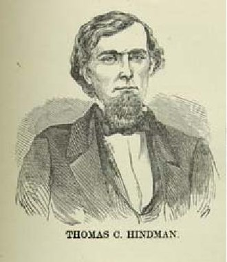 Thomas C. Hindman - A portrait of Hindman, taken from Confederate double agent Loreta Janeta Velazquez's The Woman in Battle: A Narrative of the Exploits, Adventures, and Travels of Madame Loreta Janeta Velazquez, Otherwise Known as Lieutenant Harry T. Buford, Confederate States Army