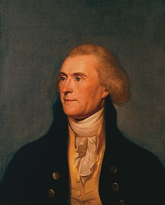 1796 United States presidential election in South Carolina - Image: Thomas Jefferson State Room Portrait