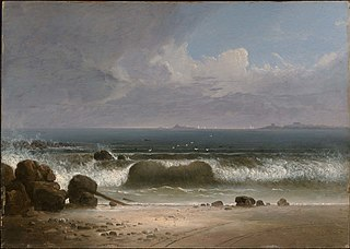 Beach Scene with Rocks I