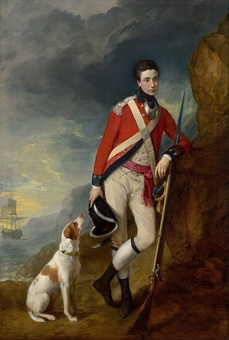 Dogs in the American Revolutionary War - Image: Thomas Gainsborough An officer of the 4th Regiment of Foot Google Art Project