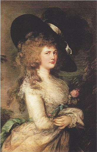 Picture hat - Thomas Gainsborough portrait of Georgiana, Duchess of Devonshire, said to be an inspiration for the picture or Gainsborough hat