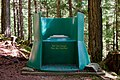 Throne over the woods style composting toilet at campsite 32 in Bowron Lakes Provincial Park, BC (DSCF2871).jpg