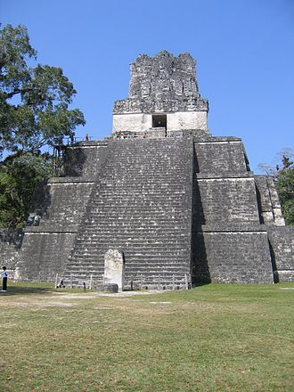 Apocalypto - Pyramids like this at Tikal were reproduced for the film
