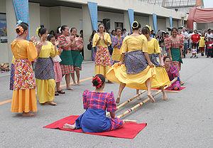Tinikling - Tinikling dancers.