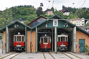 Tiroler MuseumsBahnen - Locomotive shed at the Localbahn Museum