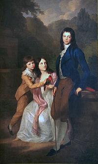 The children of Karl August and Louise's: Charles Frederick, Caroline Louise and Bernhard. Portrait by Johann Friedrich August Tischbein, 1798. (Source: Wikimedia)