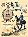 """Titelseite """"Prinz Karl Dragoner-Marsch"""" zum 50-jährigen Bestehen des Regiments, komponiert von Königl. Musikdirigent Max Claus, 1900, Opus 20.jpg"""